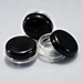 Clear Jars w/Black Lids (3 gram, 100 jars + 100 labels) - 800B
