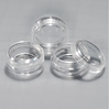 Clear Jars w/Clear Lids (3 gram, 100 jars + 100 labels) Cosmetic Sample Jars, makeup containers, makeup sample containers, cosmetic jars, cosmetic sample containers, makeup jars, wholesale cosmetic jars